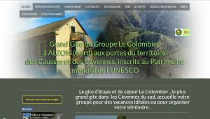site du gite de groupe le colombier à Alzon